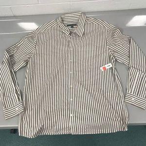 Old Navy Mens Striped Button Down Shirt XL NWT